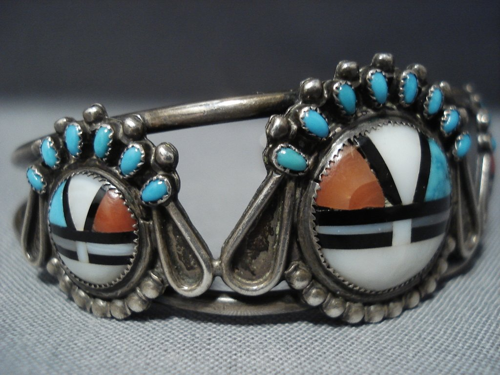 Quality Vintage Zuni Turquoise Coral Native American