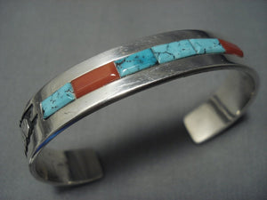 Rare Alvin Begay Turquoise Sterling Native American Jewelry Silver Bracelet Old Pawn-Nativo Arts
