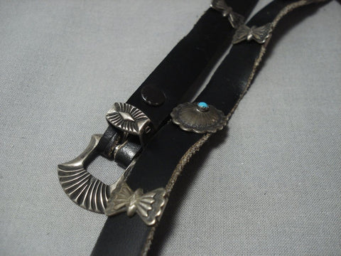 Rare Vintage Navajo Sterling Native American Jewelry Silver Concho Belt Bracelet Old-Nativo Arts