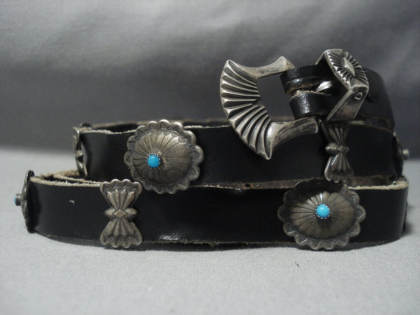Rare Vintage Navajo Sterling Native American Jewelry Silver Concho Belt Bracelet Old