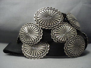 Rare Vintage Zuni Leo Martza Sterling Native American Jewelry Silver Concho Belt Old-Nativo Arts