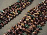 "REMARKABLE MODERNISTIC NAVAJO SPINY OYSTER """"TOP NECK WRAP"""" NECKLACE-Nativo Arts"