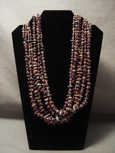 "REMARKABLE MODERNISTIC NAVAJO SPINY OYSTER """"TOP NECK WRAP"""" NECKLACE"