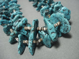 Spiderweb Nuggets! Vintage Navajo Native American Jewelry jewelry Turquoise Heishi Necklace Old-Nativo Arts