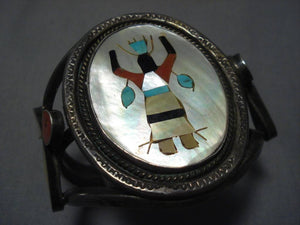 Stunning Vintage Native American Navajo Turquoise Sterling Silver Naitve American Bracelet Old-Nativo Arts