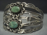Stunning Vintage Navajo Coin Native American Jewelry Silver Bracelet Old-Nativo Arts