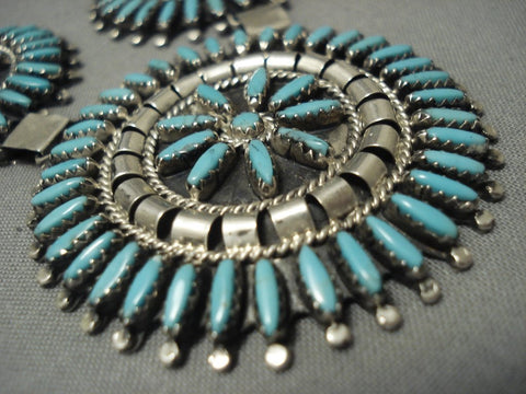 Stunning Vintage Navajo Sterling Native American Jewelry Silver Necklace Old Pawn-Nativo Arts