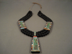 Stunning Vintage Santo Domingo Turquoise 132 Grams Necklace-Nativo Arts