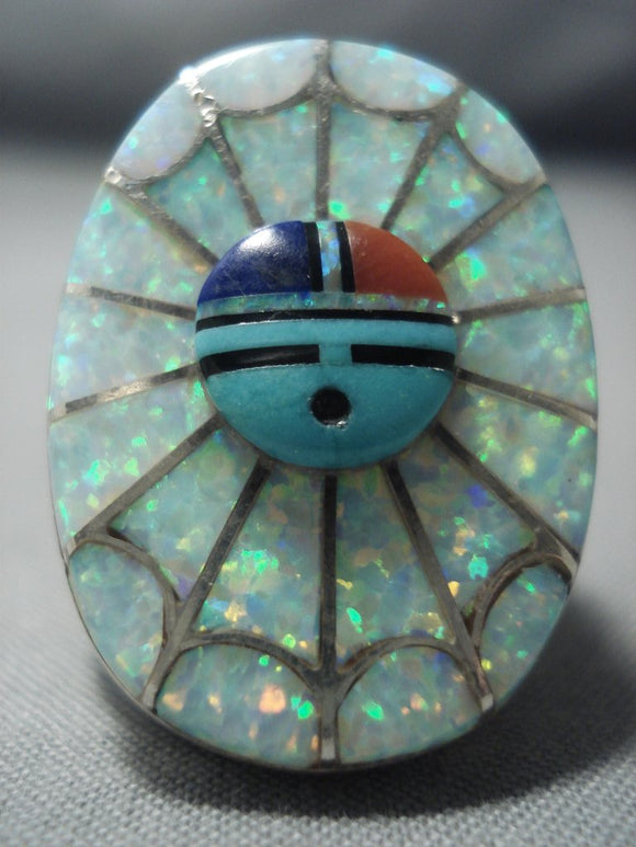Stunning Vintage Zuni Turquoise Sterling Native American Jewelry Silver Ring Old-Nativo Arts
