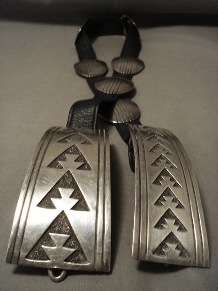 The Best And Most Unique Tommy Jackson Piece- Huge Sterling Native American Jewelry Silver Concho Belt-Nativo Arts
