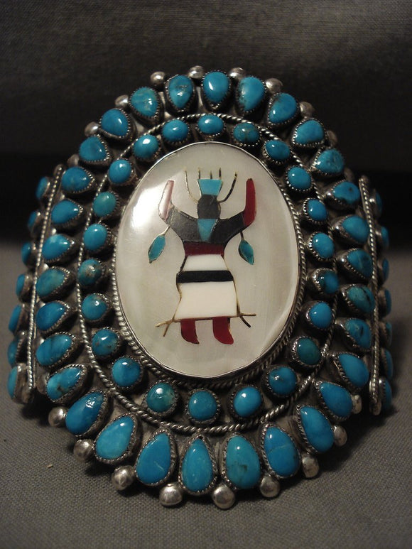 The Best And Most Unique Vintage Navajo Victor Moses Turquoise Native American Jewelry Silver Bracelet-Nativo Arts