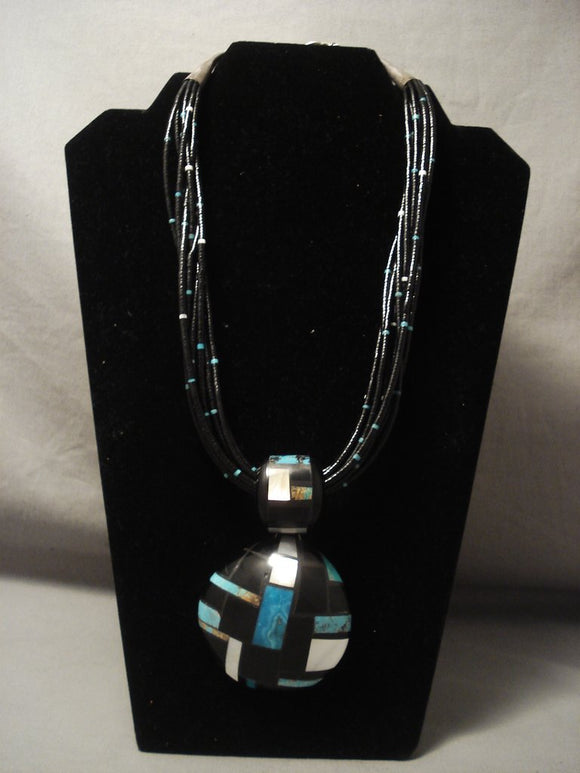 The Best Inlay Artist Of Santo Domingo Necklace-Nativo Arts