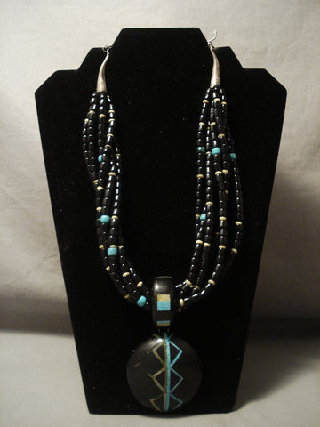 The Best Inlay Artist Of Santo Domingo Turquoise Necklace-Nativo Arts