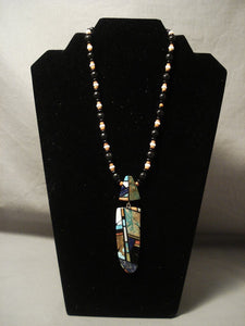 The Best Mosaic Inlay Artist In Santo Domingo Necklace-Nativo Arts