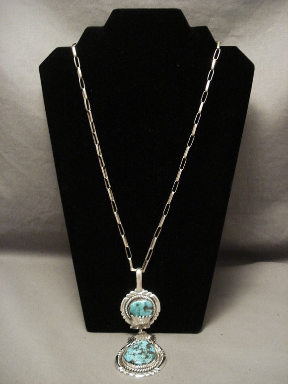 The Best Old Zuni Robert Leekya Turquoise Necklace-Nativo Arts