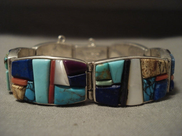 The Best Vintage Navajo Cal Begay 'High Grade Stone' Native American Jewelry Silver Bracelet-Nativo Arts