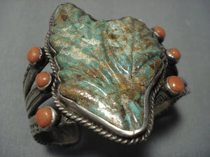 The Best Vintage Navajo Ernie Lister Green Turquoise Sterling Native American Jewelry Silver Bracelet-Nativo Arts