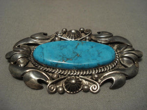 The Best Vintage Navajo Liz Whitman Turquoise Native American Jewelry Silver Pin-Nativo Arts