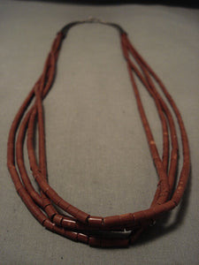The Best Vintage Navajo Pipestone Heishi Native American Jewelry Silver Cone Necklace Old-Nativo Arts