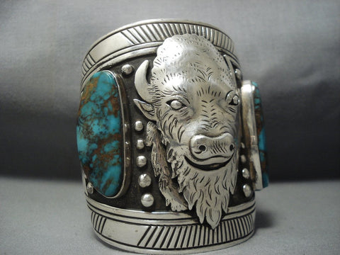 The Best Vintage Navajo Thomas Singer Turquoise Sterling Native American Jewelry Silver Bracelet Old-Nativo Arts