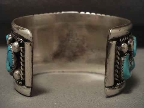 The Best Vintage Navajo Tom Moore Turquoise Native American Jewelry Silver Bracelet-Nativo Arts