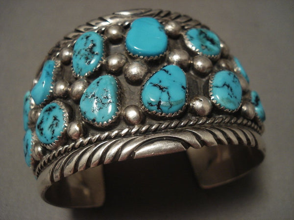 The Best Vintage Navajo Tom Moore Turquoise Native American Jewelry Silver Bracelet