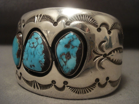 The Best Vintage Navajo Tommy Jackson Bisbee Turquoise Native American Jewelry Silver Bracelet-Nativo Arts