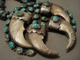 The Best Vintage Navajo Turquoise Native American Jewelry Silver Real Squash Blossom Necklace Old-Nativo Arts