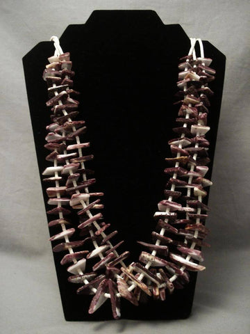 The Best Vintage Santo Domingo Purple Shell Necklace-Nativo Arts