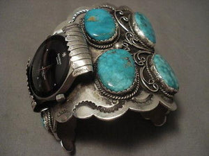 THE BIGGEST AND BEST VINTAGE NAVAJO WATCH BRACELET - 255 GRAMS!-Nativo Arts