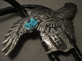 The Biggest And Important Modernistic Rich Singer Eagle Bolo Tie-Nativo Arts