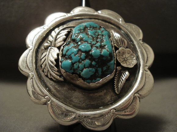 The Biggest Vintage Zuni Turquoise Native American Jewelry Silver Ring Old-Nativo Arts