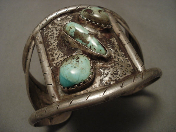 The Finest Old Navajo Native American Jewelry jewelry Bracelet For Large Wrists!-Nativo Arts