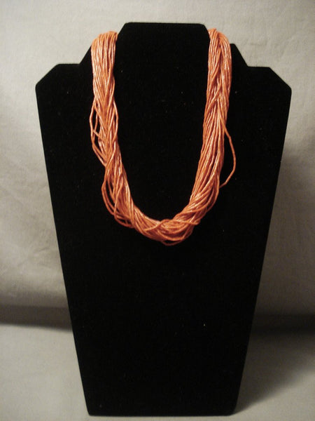 The Finest Vintage Navajo Native American Jewelry jewelry Solid 14k Gold Coral Necklace