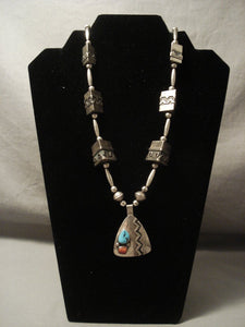The Most Rare Thomas Singer Hallmark Vintage Navajo Native American Jewelry jewelry 'Triangle Tube' Necklace-Nativo Arts