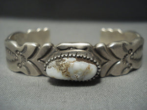 Thick And Heavy!! Vintage Navajo Native American Jewelry jewelry Dry Creek Turquoise Sterling Silver Bracelet-Nativo Arts