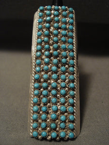 Towering Zuni Snake Eyes Turquoise Native American Jewelry Silver Ring-Nativo Arts
