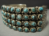 Tremendous Navajo 'Snake Eyes Crow Springs Turquoise' Sterling Native American Jewelry Silver Bracelet-Nativo Arts