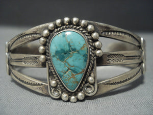 Tremendous Vintage Navajo Native American Jewelry jewelry Royston Turquoise Sterling Silver Bracelet-Nativo Arts
