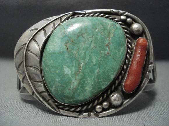 Tremendous Vintage Navajo Royston Turquoise Sterling Native American Jewelry Silver Bracelet-Nativo Arts