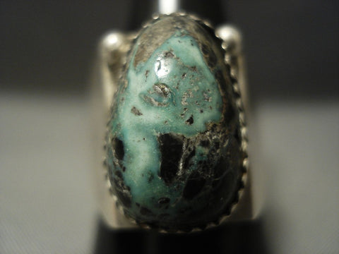 Unique Angles! Vintage Navajo Apache Rare Turquoise Sterling Native American Jewelry Silver Ring-Nativo Arts