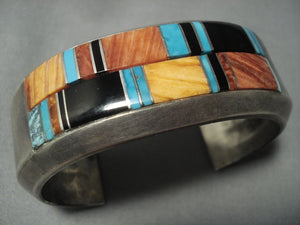 Very Important! Ervin Tsosie Vintage Navajo Native American Jewelry jewelry Turquoise Sterling Silver Bracelet-Nativo Arts