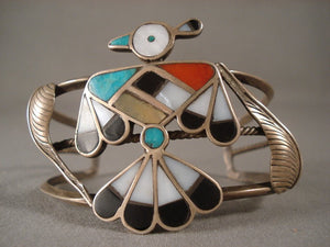 Very Old Huge Zuni Turquoise Native American Jewelry Silver Bracelet-Nativo Arts