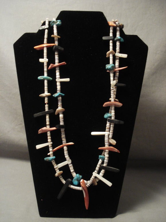 Very Old Santo Domingo Turquoise Necklace-Nativo Arts