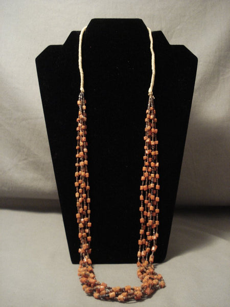 Very Old Vintage 'Chunky Tube Coral' Navajo Native American Jewelry jewelry Necklace