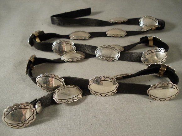 Very Rare & Authentic Vintage Navajo Kee Joe (d.) Native American Jewelry Silver Concho Belt-Nativo Arts