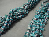 Very Rare! Vintage Navajo Native American Jewelry jewelry Turquoise Purple Shell Necklace-Nativo Arts