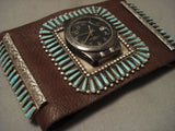 Very Rare Vintage Navajo Turquoise Native American Jewelry Silver Watch Ketoh Bracelet-Nativo Arts