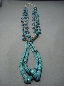 Vintage Navajo Native American Jewelry jewelry Turquoise Coral Jacla Necklace Old Pawn Jewelry-Nativo Arts