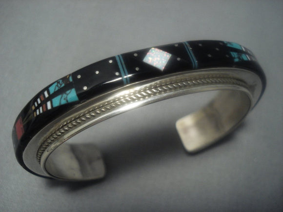 Vintage Navajo Native American Jewelry jewelry Turquoise Coral Sterling Silver Bracelet Cuff-Nativo Arts